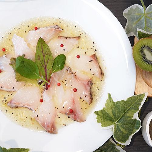 レシピ|白身魚&キウイソースのカルパッチョ